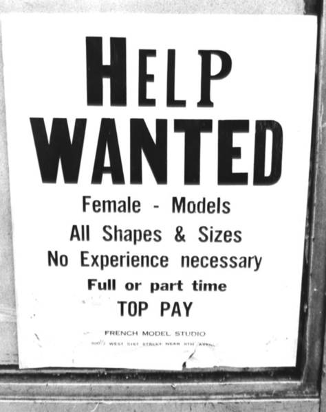 Scale Photograph - Help Wanted, Female - Models All Shapes by New York Daily News Archive
