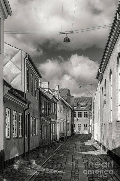 Wall Art - Photograph - Helsingor Narrow Street In Black And White by Antony McAulay