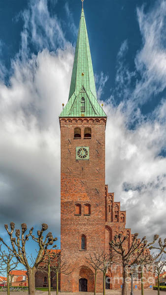 Wall Art - Photograph - Helsingor Saint Olaf Church Facade by Antony McAulay