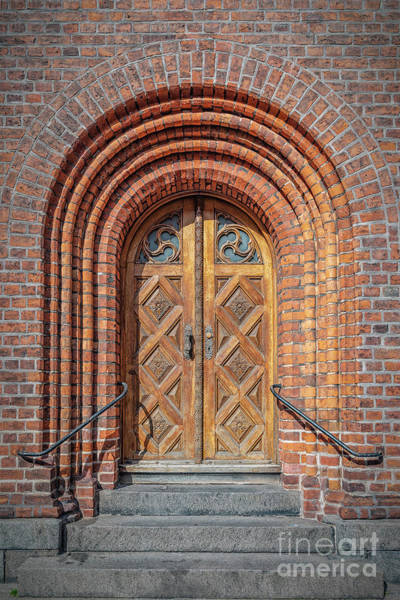 Wall Art - Photograph - Helsingor Town Hall Door by Antony McAulay