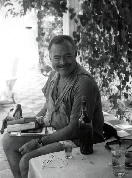 Dog Lover Photograph - Hemingway And His Pets by Daniel Hagerman