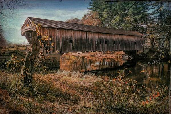 Digital Art - Hemlock Covered Bridge Fryeburg,maine. by Rusty R Smith