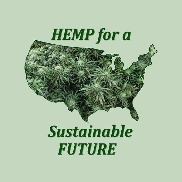 Digital Art - Hemp For A Sustainable Future by Julia L Wright