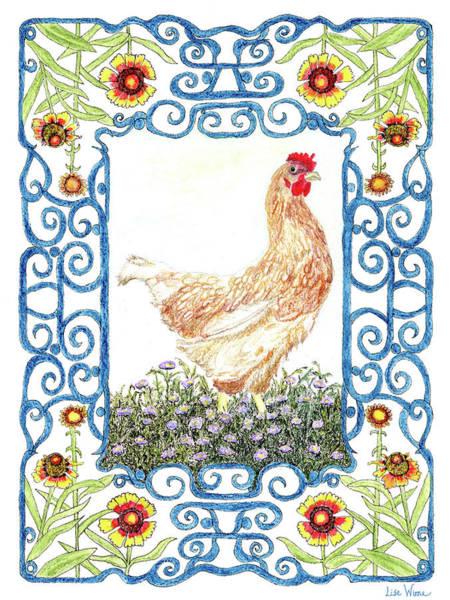 Painting - Hen In The Garden by Lise Winne