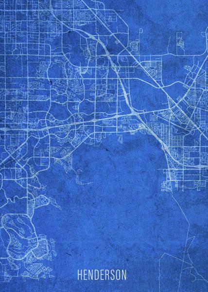 Wall Art - Mixed Media - Henderson Nevada City Street Map Blueprints by Design Turnpike
