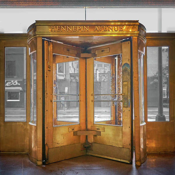 Minneapolis Photograph - Hennepin Ave Door In Minneapolis Lumber Exchange Building by Jim Hughes