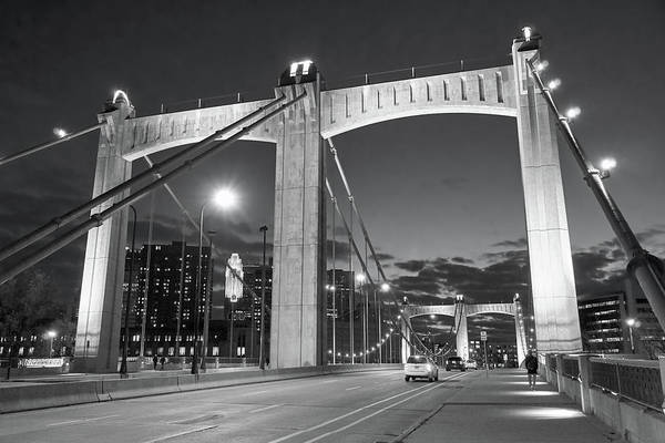 Wall Art - Photograph - Hennepin Avenue Bridge At Dusk by Jim Hughes
