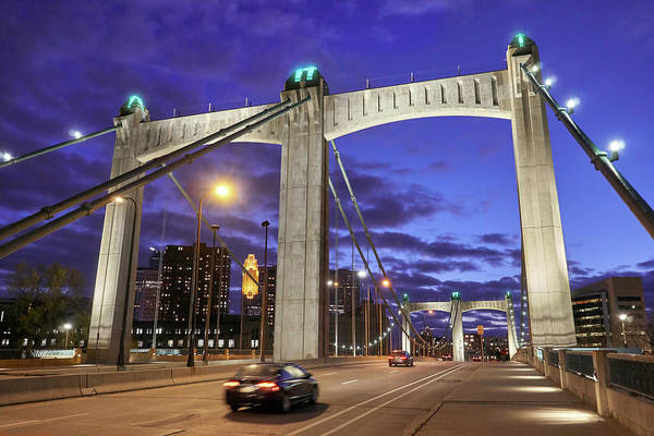 Photograph - Hennepin Avenue Bridge by Jim Hughes