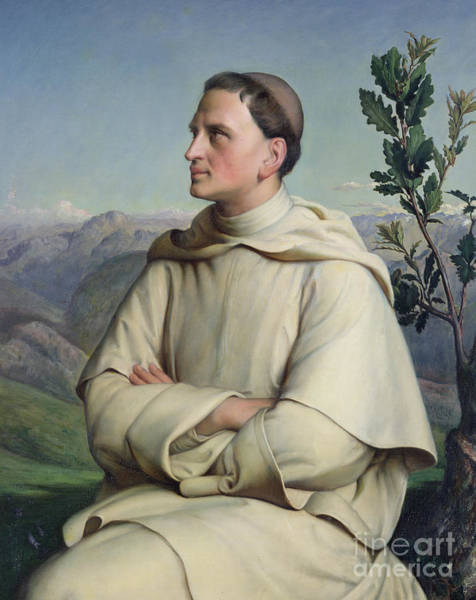 Wall Art - Painting - Henri Lacordaire At Sorreze, 1847 by Louis Janmot