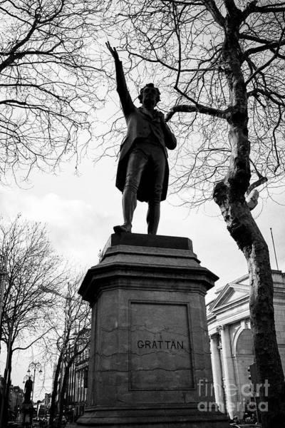 Wall Art - Photograph - Henry Grattan Memorial Statue In College Green Dublin Republic Of Ireland Europe by Joe Fox