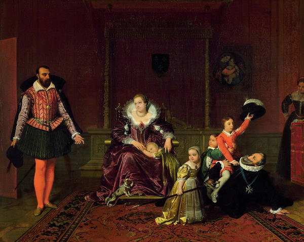 Wall Art - Painting - Henry Iv Receiving The Ambassador Of Spain, 1817 by Jean-Auguste-Dominique Ingres