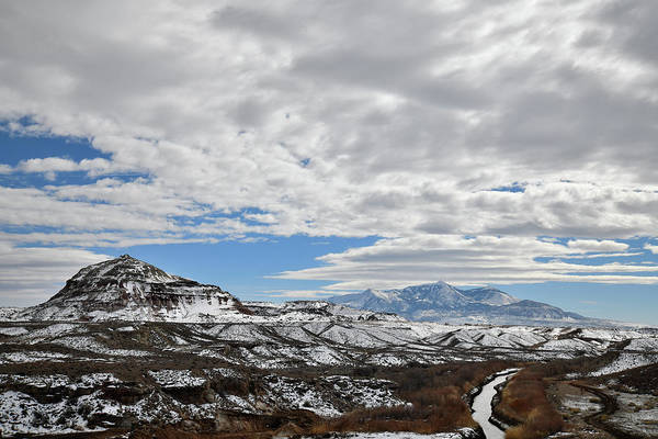 Photograph - Henry Mountains From Highway 24 West Of Hanksville Ut by Ray Mathis