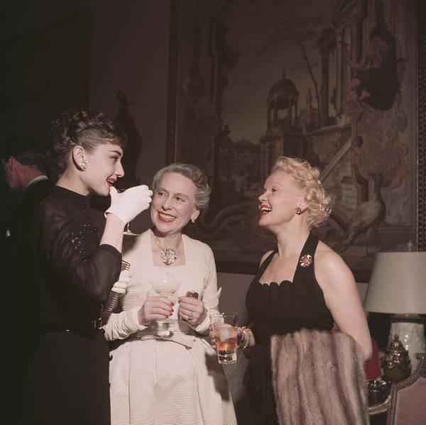 Belgian Culture Photograph - Hepburn And Friends by Slim Aarons
