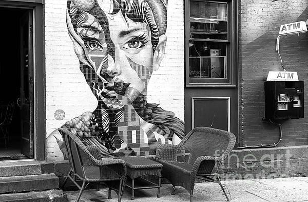 Wall Art - Photograph - Hepburn Mural On Mulberry Street New York City by John Rizzuto
