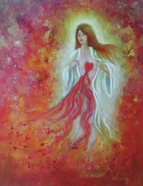Painting - Her Heart Bleeds by Bernadette Wulf