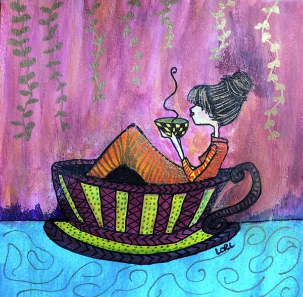 Wall Art - Painting - Her Own World by Lori Dawson