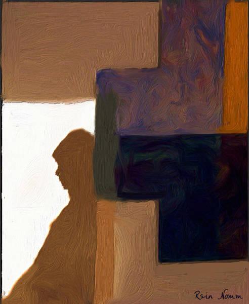 Digital Art - Her Silent Shadow by Rein Nomm