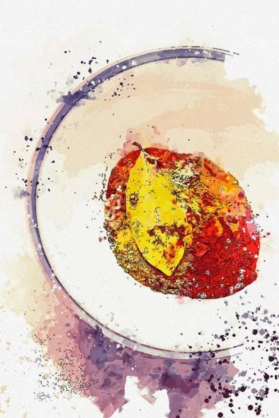 Wall Art - Painting - Herbal Mix -  Watercolor By Ahmet Asar by Ahmet Asar