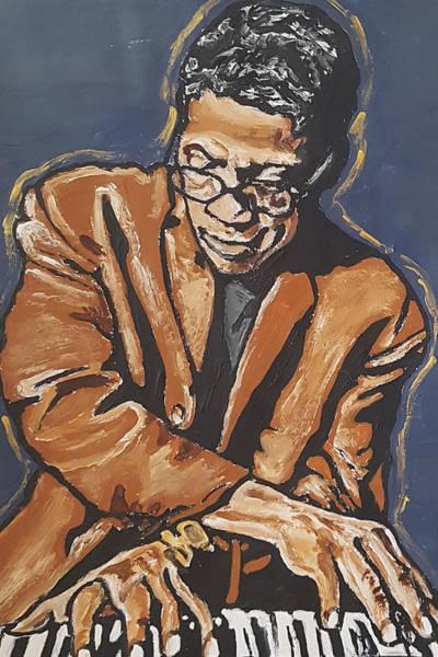 Painting - Herbie Hancock by Rachel Natalie Rawlins