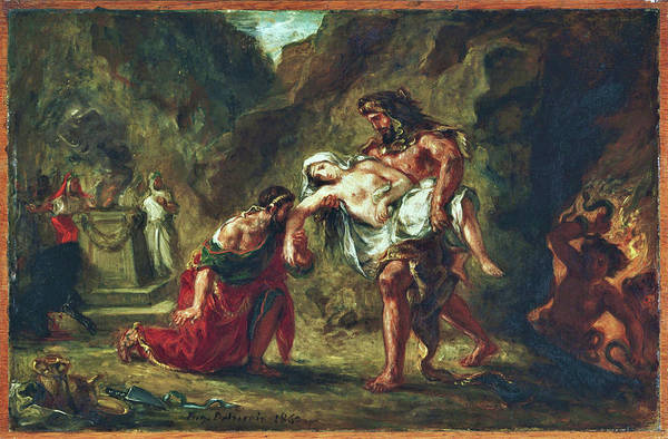 Wall Art - Painting - Hercules And Alcestis - Digital Remastered Edition by Eugene Delacroix