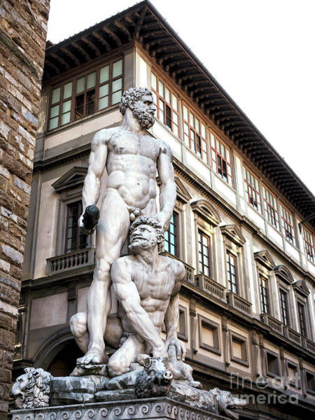 Photograph - Hercules And Cacus At The Palazzo Vecchio In Florence by John Rizzuto