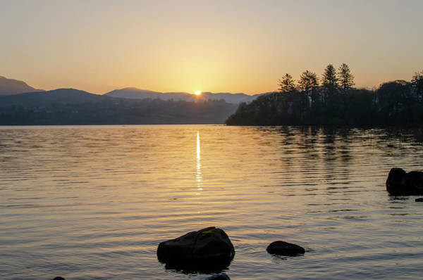 Wall Art - Photograph - Here Comes The Sun - Lough Eske Donegal Ireland by Bill Cannon