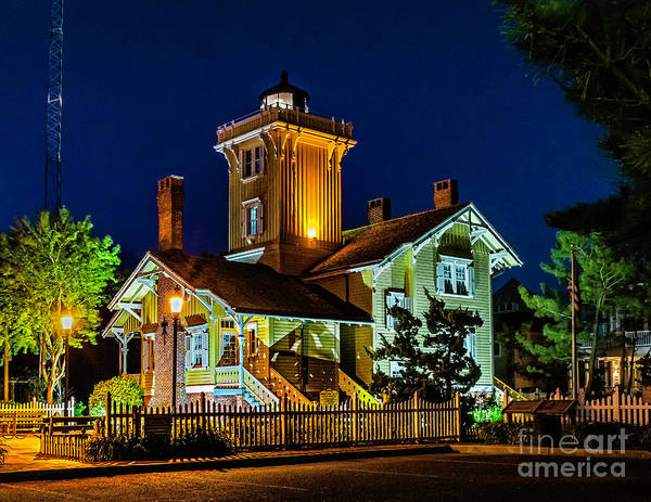 Photograph - Hereford Lighthouse At Night by Nick Zelinsky