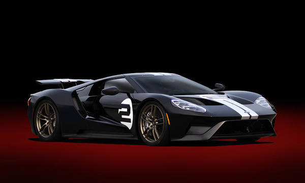 Collector Digital Art - Heritage Ford Gt by Peter Chilelli