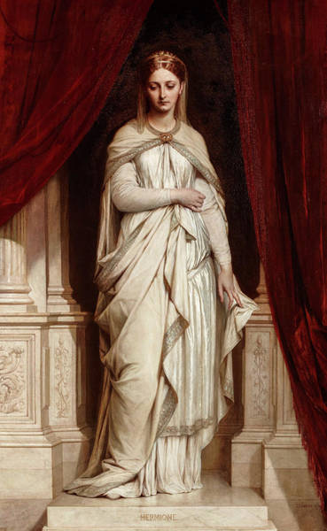 Wall Art - Painting - Hermione, 1874 by Thomas Francis Dicksee