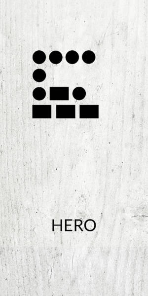Wall Art - Digital Art - Hero Morse Code 2- Art By Linda Woods by Linda Woods