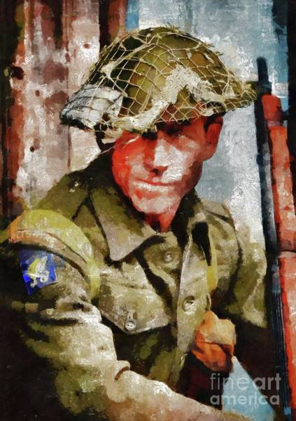 Dday Wall Art - Painting - Hero Of World War Two by Mary Bassett