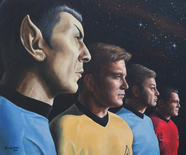 Painting - Heroes Of The Final Frontier by Kim Lockman