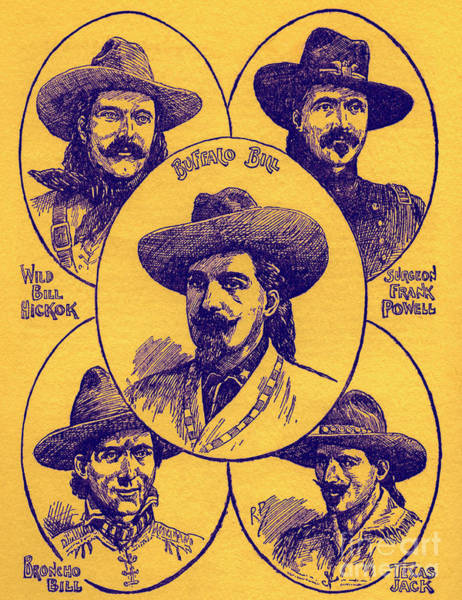Wall Art - Drawing - Heroes Of The Wild West by Robert Prowse