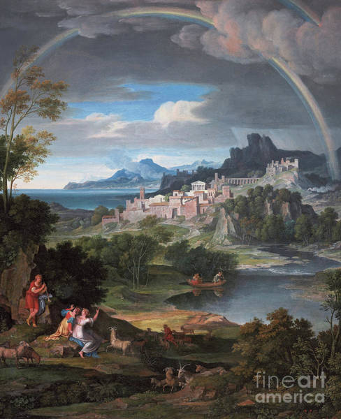 Wall Art - Painting - Heroic Landscape With Rainbow, 1806  by Joseph Anton Koch