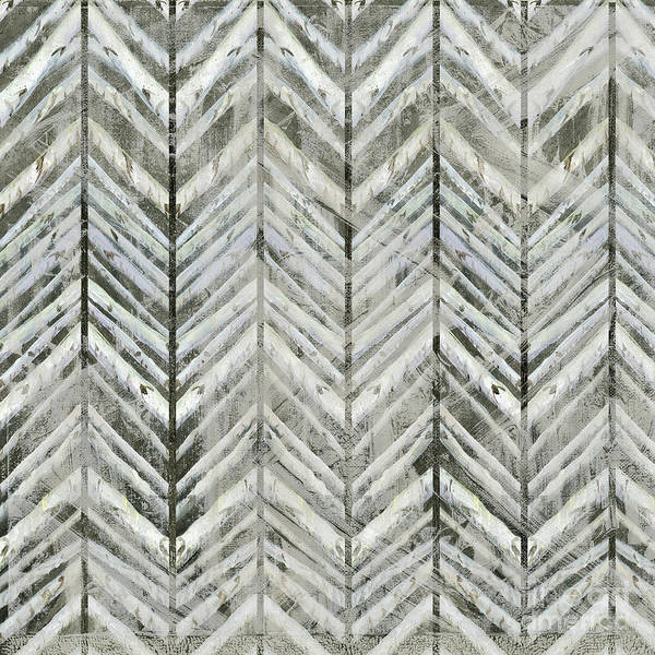 Painting - Herringbone Lodge Abstract Modern Pattern by Audrey Jeanne Roberts