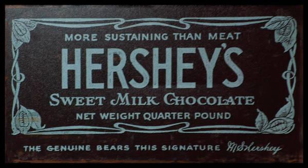 Photograph - Hersheys Chocolate Advertising by Chris Flees