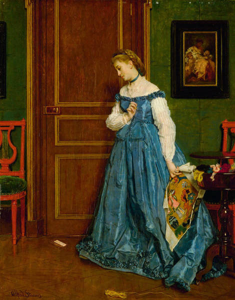 Wall Art - Painting - Hesitation by Alfred Stevens
