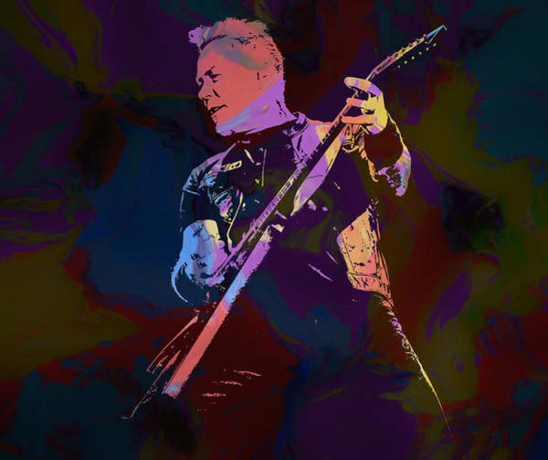 Thrash Metal Wall Art - Painting - Hetfield by Dan Sproul