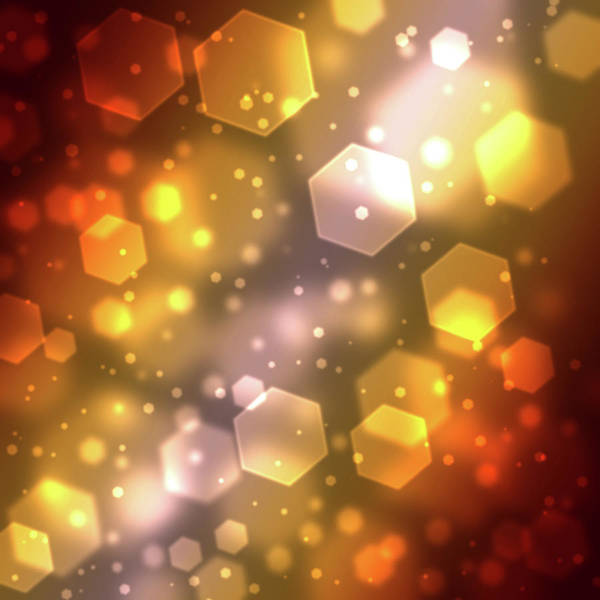 Square Digital Art - Hexagon Abstract Background With Soft by Chad Baker