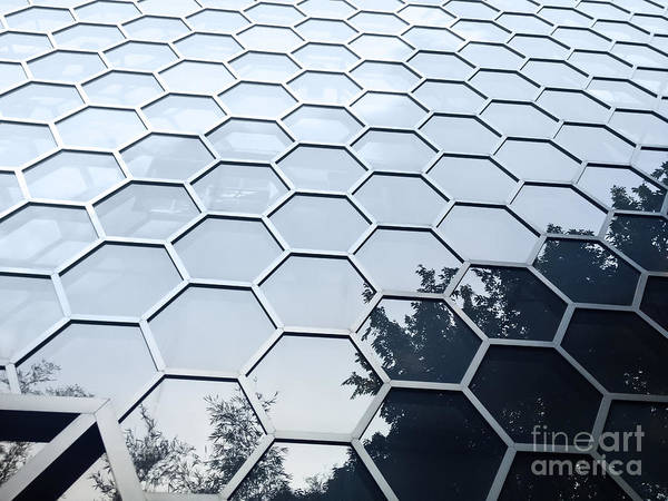 Wall Art - Photograph - Hexagonal Building Facade by Maxim Vetrov