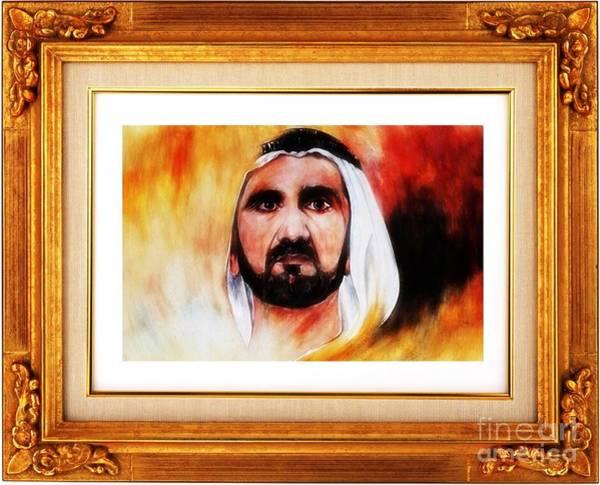 Painting - Hh Sheikh Mohammed Bin Rashid Al Maktoum by Qasir Z Khan