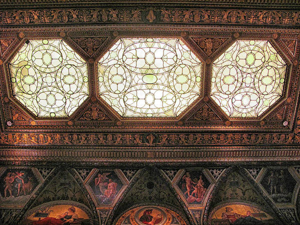 Photograph - The Morgan East Room Ceiling by Jessica Jenney