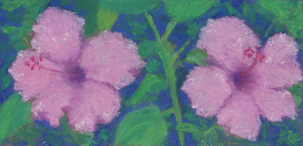 Pastel - Hibiscus Enchantment by Anne Katzeff