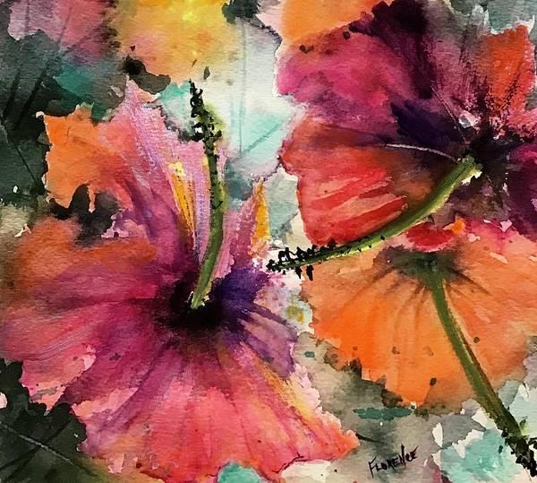 Painting - Hibiscus  by Florence Ferrandino