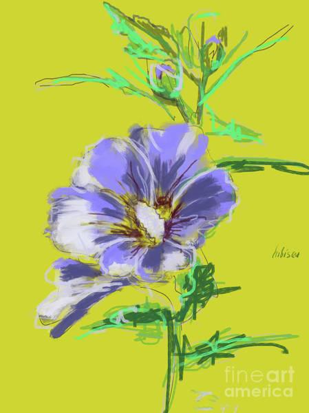 Painting - Hibiscus Lilac by Go Van Kampen