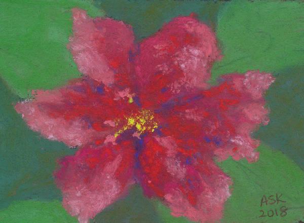 Pastel - Hibiscus Study by Anne Katzeff