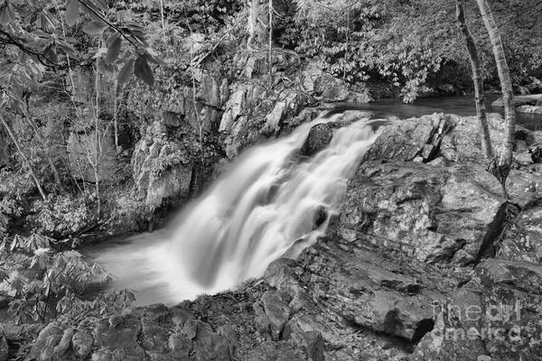 Photograph - Hickory Run Falls Black And White by Adam Jewell