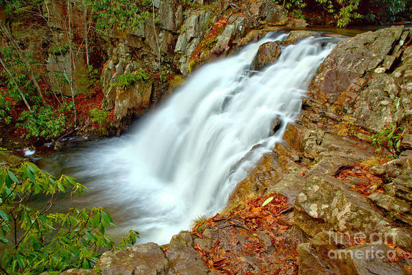 Photograph - Hickory Run Hawk Falls by Adam Jewell