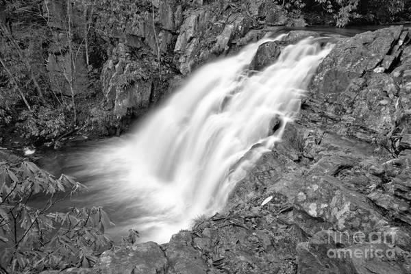 Photograph - Hickory Run Hawk Falls Black And White by Adam Jewell