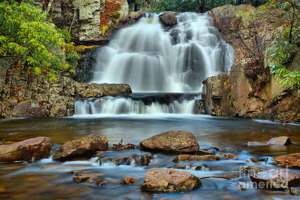 Photograph - Hickory Run State Park Falls by Adam Jewell